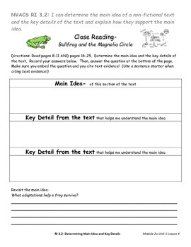 EngageNY ELA 3rd Grade Module 2a Student Activities/Assessments