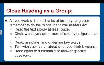 EngageNY ELA PowerPoint Presentations, Grade 5, Module 1, Unit 1, Lessons 1-11