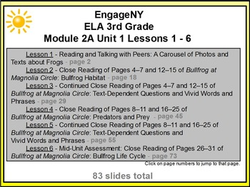 EngageNY English 3rd Module 2A Unit 1 Lessons 1-6 Promethean