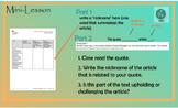 EngageNY  English Language Arts Fifth Grade Module 1 Unit