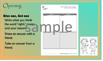 EngageNY English Language Arts Fifth Grade Module 1 Unit 1 Lesson 6