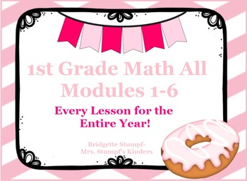 EngageNY Eureka First Grade Math Modules-Bundle for the Entire Year!