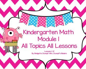 SMARTBOARD EngageNY Eureka Kindergarten Math Module 1 Topic (A-H) Lessons 1-37