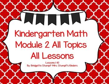 EngageNY Eureka Kindergarten Math Module 2 All Topics (A-C