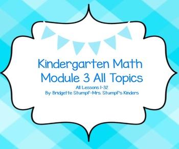 SMART EngageNY Eureka Kindergarten Math Module 3 All Topics (A-G) Lessons 1-32