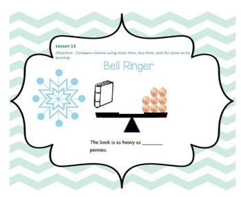 SMARTBOARD EngageNY Eureka Kindergarten Math Module 3 Topic (D) Lessons 13-15