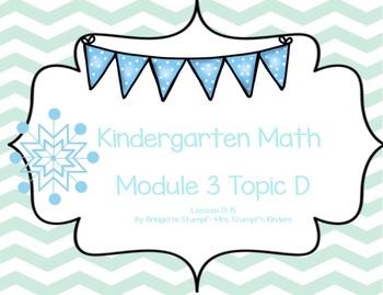 EngageNY Eureka Kindergarten Math Module 3 Topic (D) Lesso
