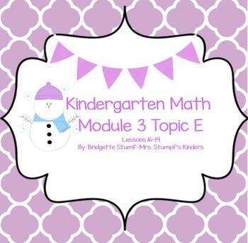 EngageNY Eureka Kindergarten Math Module 3 Topic (E) Lesso