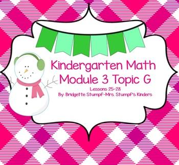 SMARTBOARD EngageNY Eureka Kindergarten Math Module 3 Topic (G) Lessons 25-28