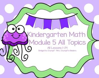 SMART EngageNY Eureka Kindergarten Math Module 5 All Topics (A-E) Lessons 1-24