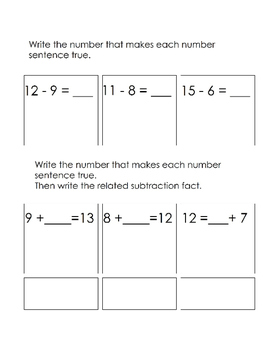 EngageNY-Eureka Math 1st Grade Module 2 Modified End of Module Assessment