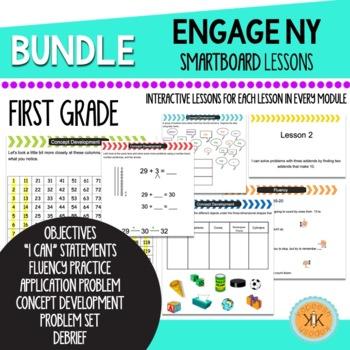 EngageNY (Eureka Math) First Grade SMARTBoard Lessons Bundle