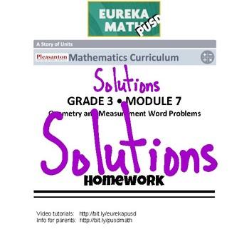 EngageNY (Eureka Math) Grade 3 Module 7 Answer Key