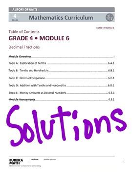EngageNY (Eureka Math) Grade 4 Module 6 Answer Key