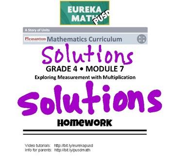 EngageNY (Eureka Math) Grade 4 Module 7 Answer Key