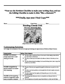 EngageNY: Evidence-Based Claims, Student Packet #2