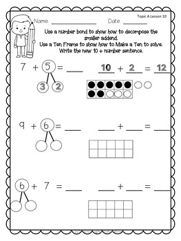 EngageNY Extra Practice Grade 1 Module 2 Topic A Lessons 1-11