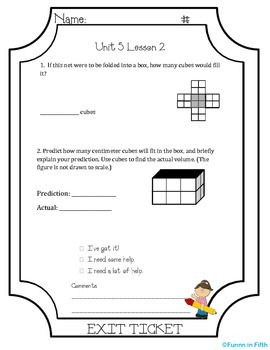 EngageNY Fifth Grade Module 5: Lessons 1-21 Exit Tickets