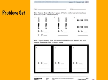 EngageNY First Grade Math Module 1 Lesson 37