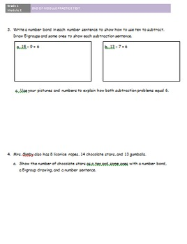 EngageNY First Grade Practice Assessments