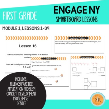 EngageNY (Eureka Math) First Grade SMARTBoard Lessons Module 1