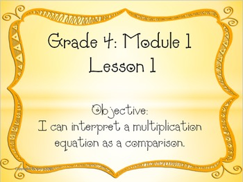 EngageNY Fourth Grade Module 1 Lesson 1 PowerPoint and Exit Ticket