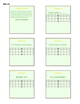 EngageNY GRADE 5 Module 1 Lessons 10