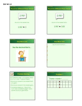 EngageNY GRADE 5 Module 1 Lessons 9