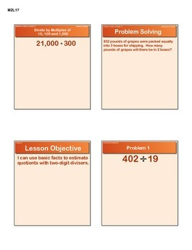 EngageNY GRADE 5 Module 2 Lesson 17