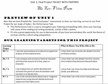 EngageNY Gr.7 Student Working Packets Unit 3 -- BUNDLE!