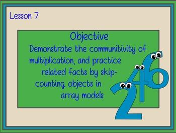 EngageNY Gr3 M1 L7 - Commutative Property of X, Skip Count