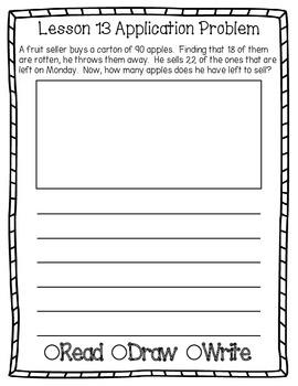 Engage NY Eureka Math Grade 2 Module 5 Application Problems Journal OLD VERSION