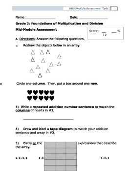 EngageNY Grade 2 Module 6 Mid Module Assessment
