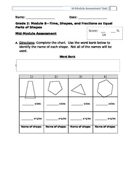 EngageNY Grade 2 Module 8 Mid Module Assessment
