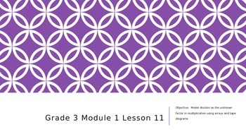 EngageNY Grade 3 Module 1 Lesson 11