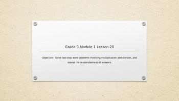 EngageNY Grade 3 Module 1 Lesson 20