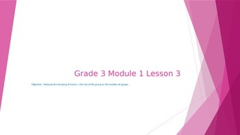 EngageNY Grade 3 Module 1 Lesson 3