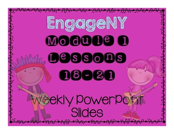 EngageNY Grade 3 Module 1 Topic F Lesson 18-21 Powerpoint