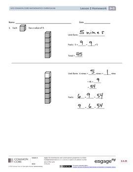 EngageNY (Eureka Math) Grade 3 Module 3 Answer Key