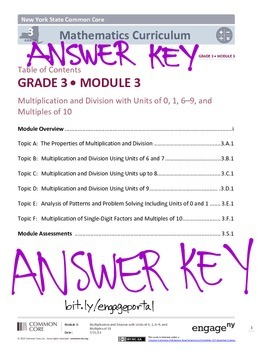 EngageNY (Eureka Math) Grade 3 Module 3 Answer Key