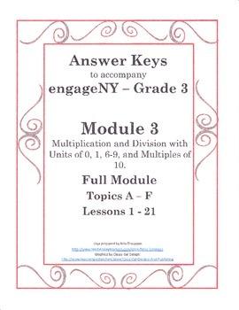 EngageNY - Grade 3 Module 3 - Answer Keys (FULL MODULE)