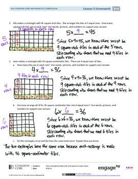 EngageNY (Eureka Math) Grade 3 Module 4 Answer Key by ...