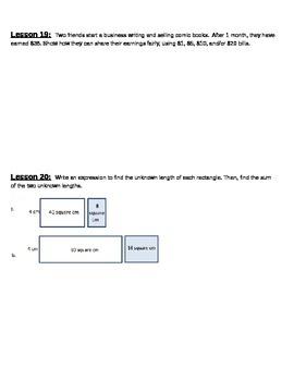 EngageNY Grade 4 Math Module 3 Application Problems