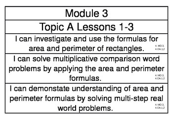 EngageNY Grade 4 Math Module 3 Learning Targets