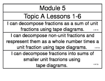 EngageNY Grade 4 Math Module 5 Learning Targets