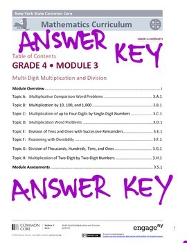 EngageNY (Eureka Math) Grade 4 Module 3 Answer Key