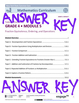 EngageNY (Eureka Math) Grade 4 Module 5 Answer Key by ...