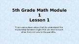 EngageNY Grade 5 Math Module Lesson 1 powerpoint
