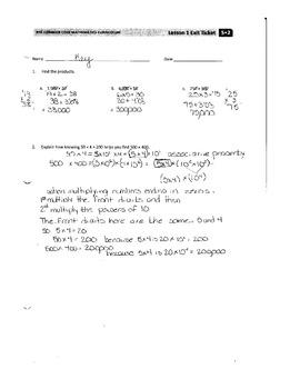 EngageNY Grade 5 Module 2 First Half Answer Keys