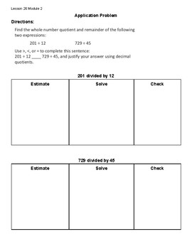 EngageNY Grade 5 Module 2 Lesson 26 Guided Notes
